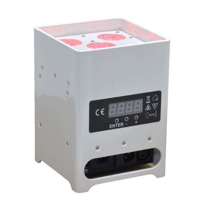 Location Projecteur de décoration sur batterie 50W RGBW DMX HF (Blanc)
