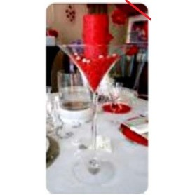 """Centre de table """"Verre cocktail"""" (vide)"""