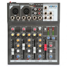 Location table de mixage 4 canaux USB VONYX VMM F401