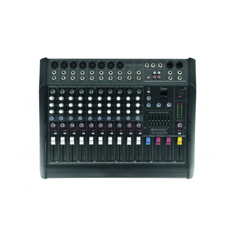 Location console de mixage amplifiée OMNITRONIC LS-1222A 2*300 w/4
