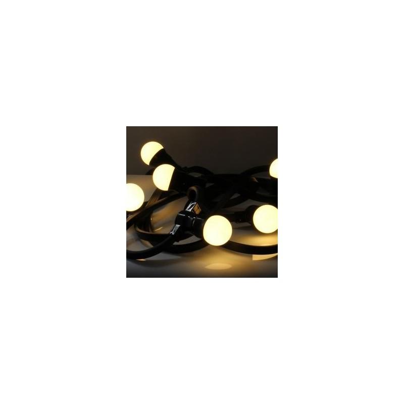 Guirlande champêtre Blanc chaud 10M 10 douilles B22