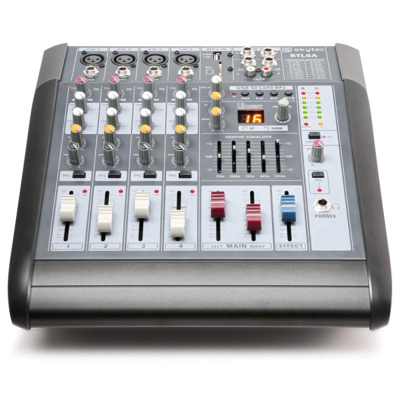 Location console de mixage amplifiée USB/SD/MP3 2x300watts SKYTEC