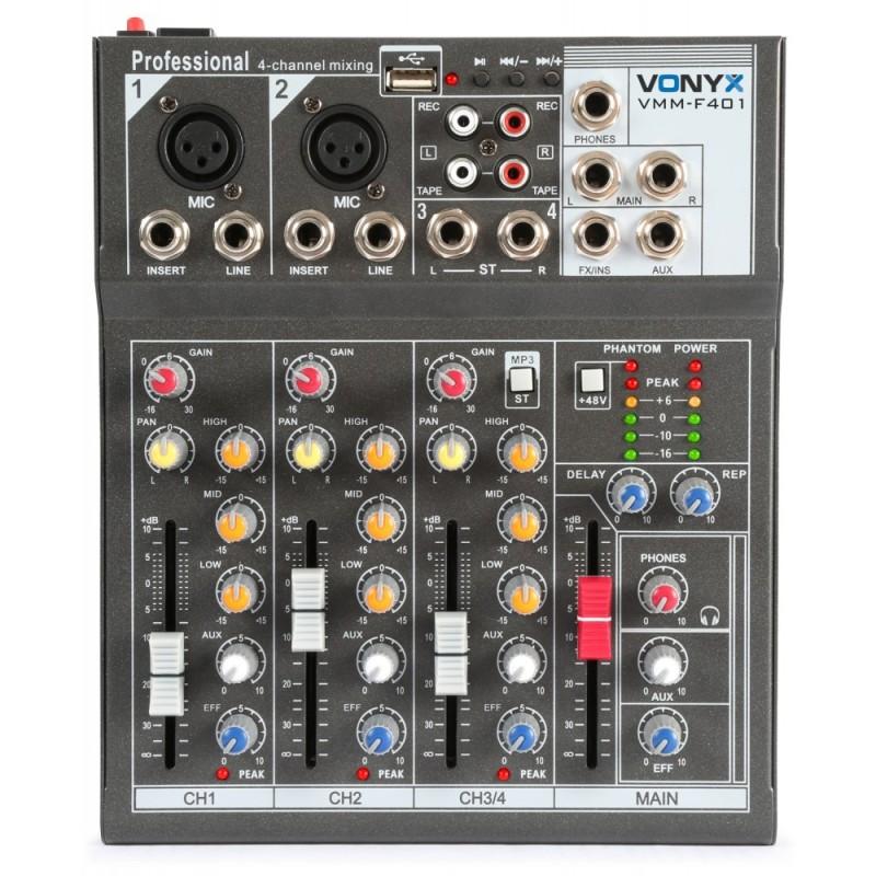 Location table de mixage 4 canaux USB VONYX VMM F401
