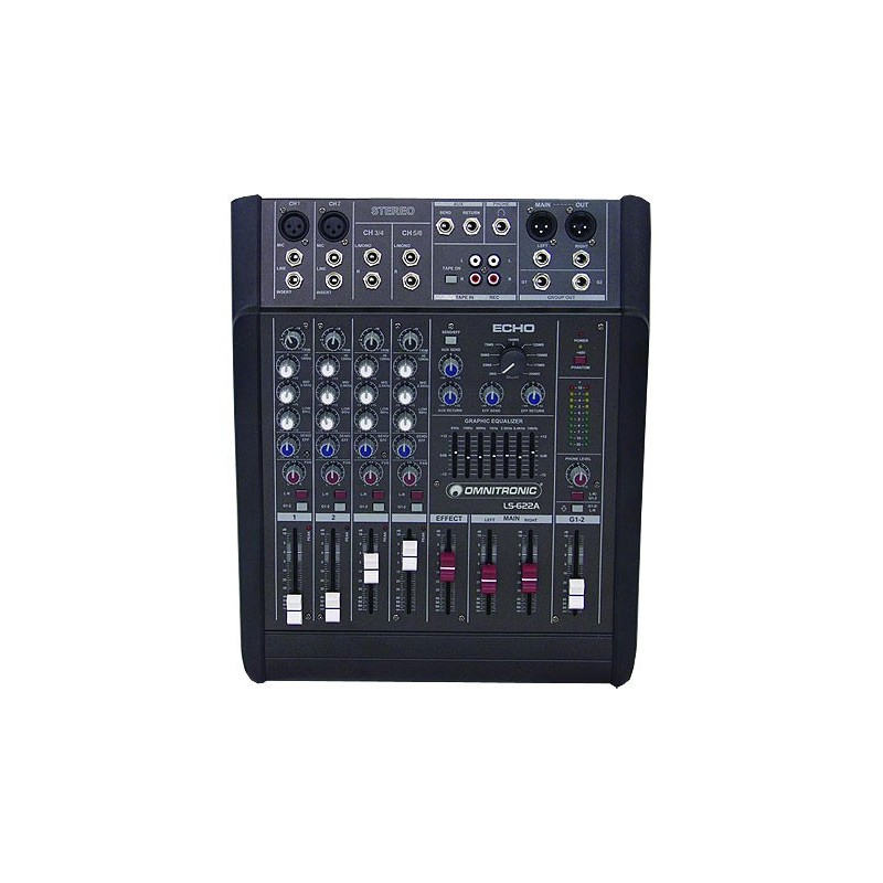 Location console de mixage amplifiée OMNITRONIC LS-622A 2*150w/4