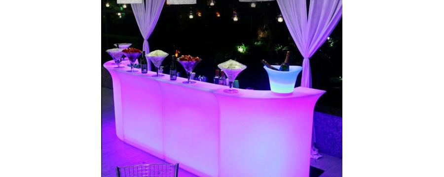 Location bar lumineux à led pour vos réceptions