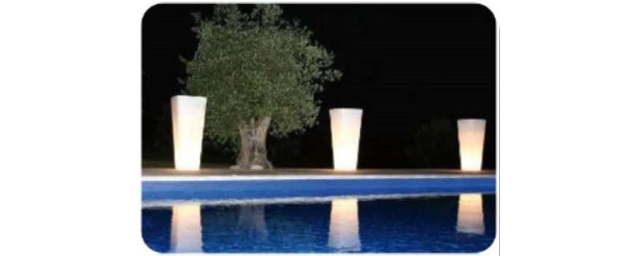 location pot lumineux à led pour vos mariages en Vendée