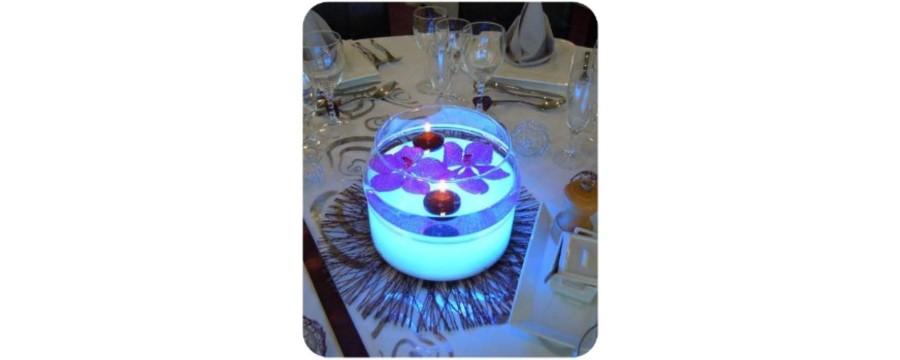 Location CENTRE DE TABLE LUMINEUX A LED